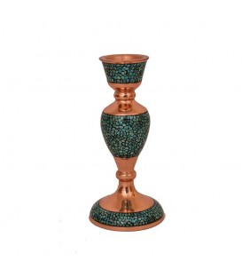 Turquoise inlaying candlesticks 17 cm
