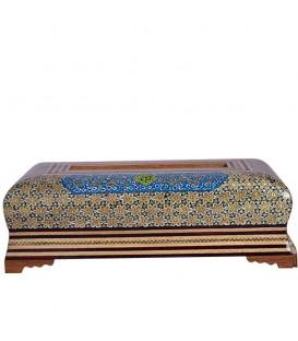 Khatamkari tissue box arabesque