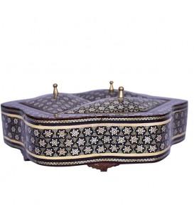 Khatamkari candy bowl with three lids