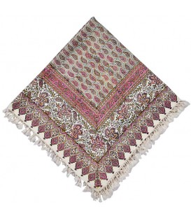 Ghalamkari tablecloth 1 m excellent pink