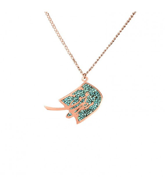 Turquoise inlaying necklaces