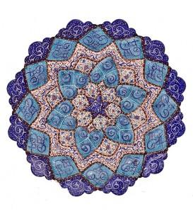 Minakari plate diameter 20 cm