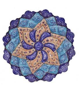 Isfahan minakari 20 cm plate