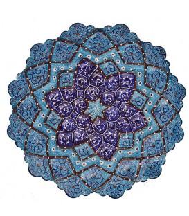 Minakari plate arabesque khatai diameter 20 cm