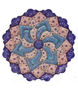 Minakari plate artiste Parhizkar diameter 20 cm