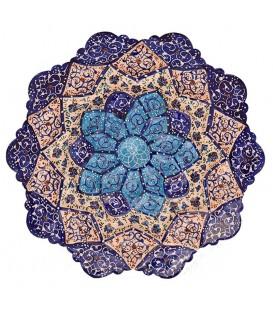 بشقاب مسی میناکاری شده اصفهان قطر 16 سانتیمتر