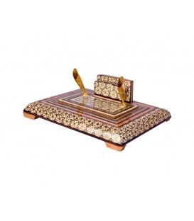 Khatamkari pen holders double 20 cm
