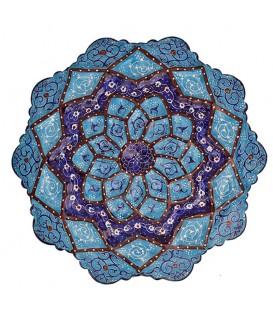 Minakari plate arabesque khatai diameter 16 cm