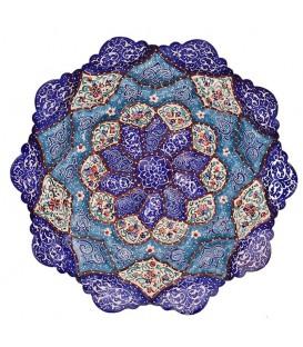 Minakari plate artiste Esmaeli 16 cm