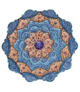 بشقاب مینا اثر استاد پرهیزکار قطر 16 سانتیمتر