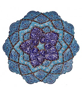 بشقاب میناکاری اصفهان 16 سانتی