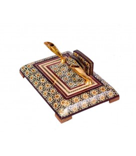 Khatamkari pen holders double 15 cm