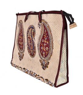 Ghalamkari bag paisley design