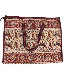 Ghalamkari bag leaves design