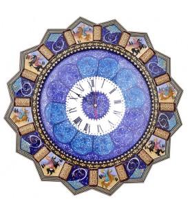 ساعت خاتم 47 سانتی شکار با صفحه مینای قلی