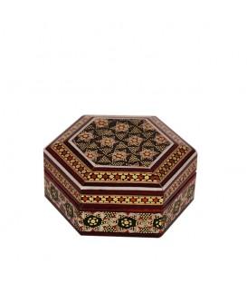 Khatamkari coin box hexagonal