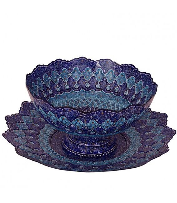 Minakari bowl and plate