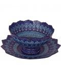 Minakari bowl and plate 30 cm arabesque