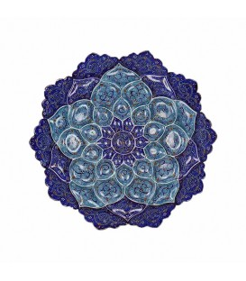 Minakari wall hanging plate arabesque 20cm diameter