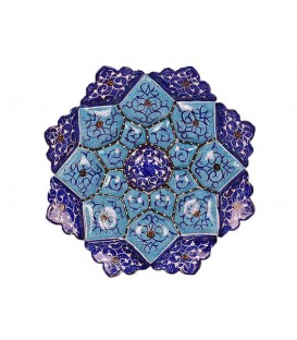 Minakari wall hanging plate arabesque 16cm diameter