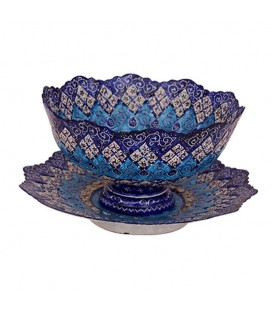 Minakari bowl and plate set 20 cm arabesque khatai