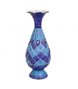 Minakari flower vase arabesque khatai 20 cm
