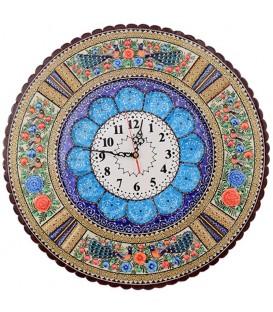 ساعت خاتم کاری 42 سانت گرد با صفحه مینای قلی