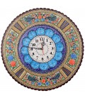 Khatamkari clock 42 cm round with flat mina crescent