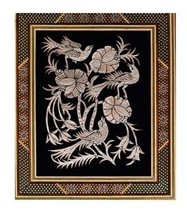 تابلو قلمزنی اصفهان با قاب خاتم