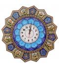 Khatamkari clock 48 cm solar hunting with flat mina crescent