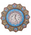 Khatamkari clock 48 cm solar flower and bird with flat mina crescent
