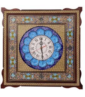 ساعت مربعی خاتم 53 سانتی کیفیت اعلا با نقاشی مینا