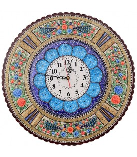 ساعت خاتم کاری گرد قطر 42 سانتی با صفحه مینای قلی