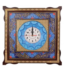 Khatamkari clock 48 cm with flat mina crescent 1